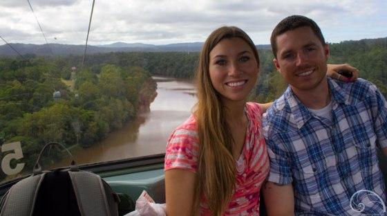 Gliding over the Barron River.